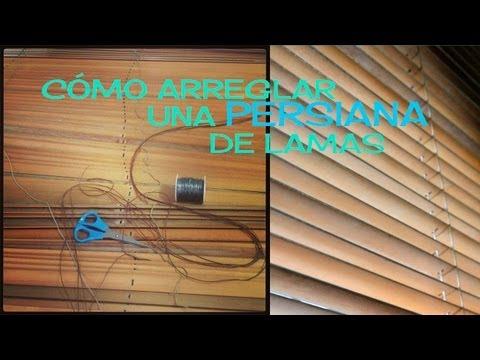 C mo reparar una persiana con la cinta rota paso a paso for Como cambiar la cinta de una persiana