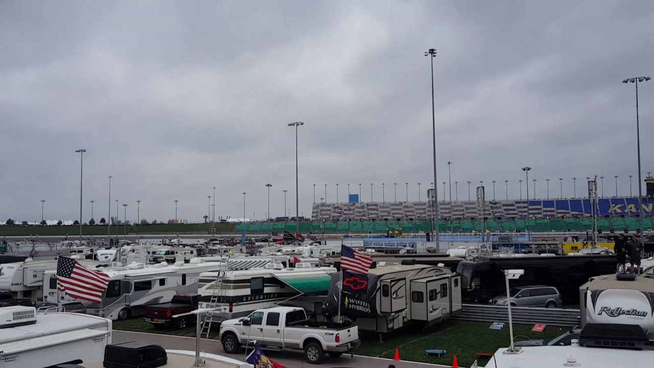 Camping on the infield kansas city speedway nascar 2016 for Camping at charlotte motor speedway
