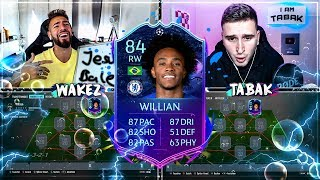 FIFA 20: RTTF WILLIAN Squad Builder Battle 🔥🔥 IamTabak vs Wakez !!
