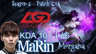 LGD MaRin MORGANA vs SYNDRA Mid - Patch 6.17 KR Ranked   League of Legends