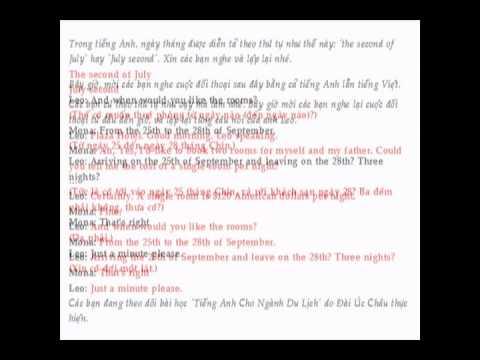 Tieng anh du lich - Bai 1- Do Xuan Thanh
