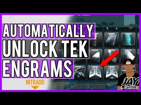 ARK PS4 Server Tips - How To Automatically Unlock Tek Engrams On Your Nitrado Server