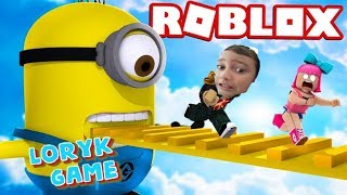 ROBLOX cu Minionii!!! Loryk Game s-a împiedicat de minion și a plâns! Roblox:Escape the Minions Obby