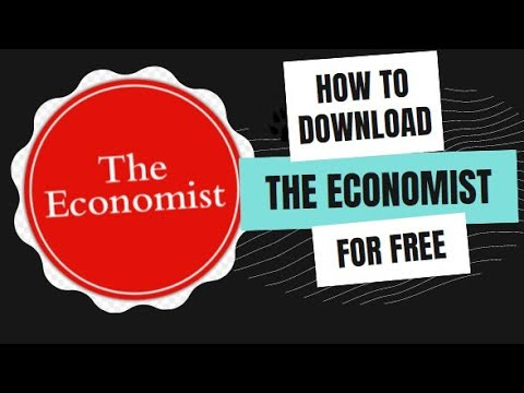 How to download THE ECONOMIST magazine for free   The Economist magazine download karne ka tareeqa