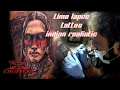 Time lapse - tattoo - indian realistic portrait