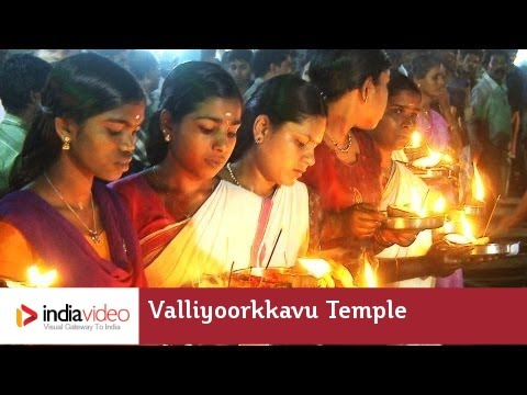 Colourful celebrations at Valliyoorkkavu Temple, Wayanad