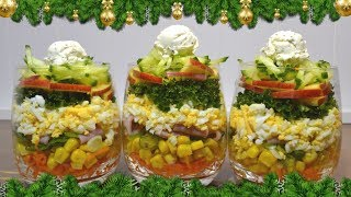 🎄Вкусный и простой салат с ветчиной🎅