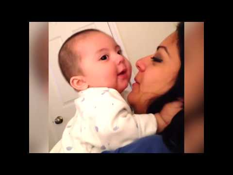 Pucker up for these baby kisses, Funny Video
