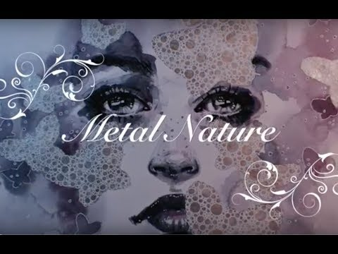 """Metal Nature"" watercolor and mixed media illustration (speed painting/time lapse) 