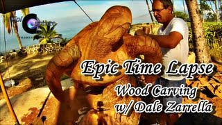 Epic Time Lapse - Hawaii Wood Carving With Dale Zarrella And Gopro Hero 3 Black
