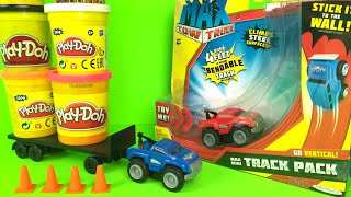 Play Doh play with Max Tow Truck Mini Hauler Mighty Machines - new boys car toys