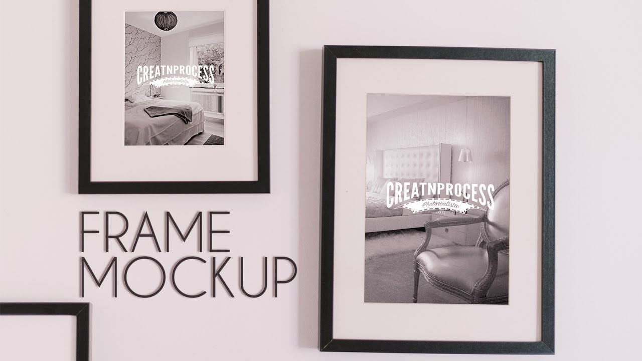 Photo frame mockup for wall photoshop tutorial speedart youtube photo frame mockup for wall photoshop tutorial speedart baditri Images