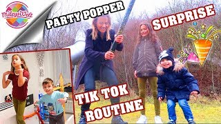 UNWETTER bei PARTY POPPER SURPRISE 🎉 TIK TOK ROUTINE mit Baby Berat - Mileys Welt