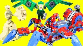 Lego Spider-man's Spider Crawler Toy Review ! Marvel Spider-man ! Superhero Toys
