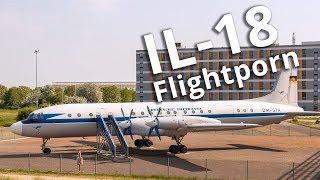 Iljuschin IL-18 am Flughafen Leipzig/Halle