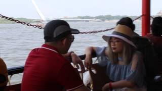 cuộc sống thường ngày- du thuyền trên sông Tùng giang Harbin.