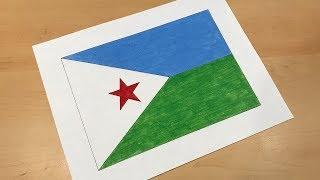 Djiboutian Flag Drawing 🇩🇯