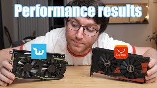 benchmarking the Fake Wish GTX 1050 Ti against an Aliexpress GTX 1050 Ti