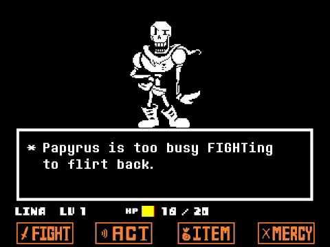 UNDERTALE: Pacifist VS Papyrus