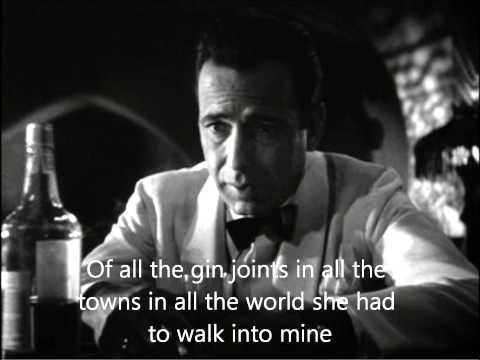 Casablanca (Sam) - As Time Goes By (Lyrics)