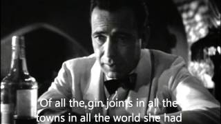 Casablanca (Sam) - As Time Goes By (Lyrics)