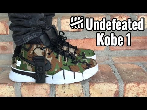 "6e42c37dbf0 Nike Kobe 1 Protro x Undefeated ""Camo"" on feet"