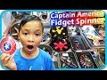 Fidget Spinner Toy Hunt at Shopping Mall 4, Captain America Shield (Rare) - TigerBox HD