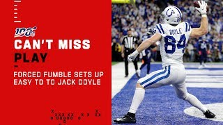 Colts Forced Fumble Sets Up Wide Open TD to Jack Doyle!