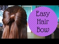 How To: Easy Hair Bow tutorial - quick 5 minute girls hairstyle prom bridesmaids flower girl