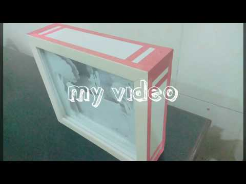 DIY box frame || aj paper & wooden crafts