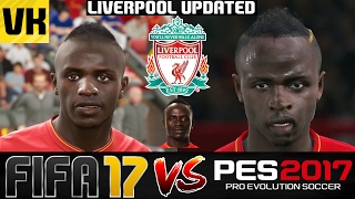 FIFA 17 VS PES 2017 VS REAL LIFE LIVERPOOL PLAYER FACES COMPARISON (Updated Edition)