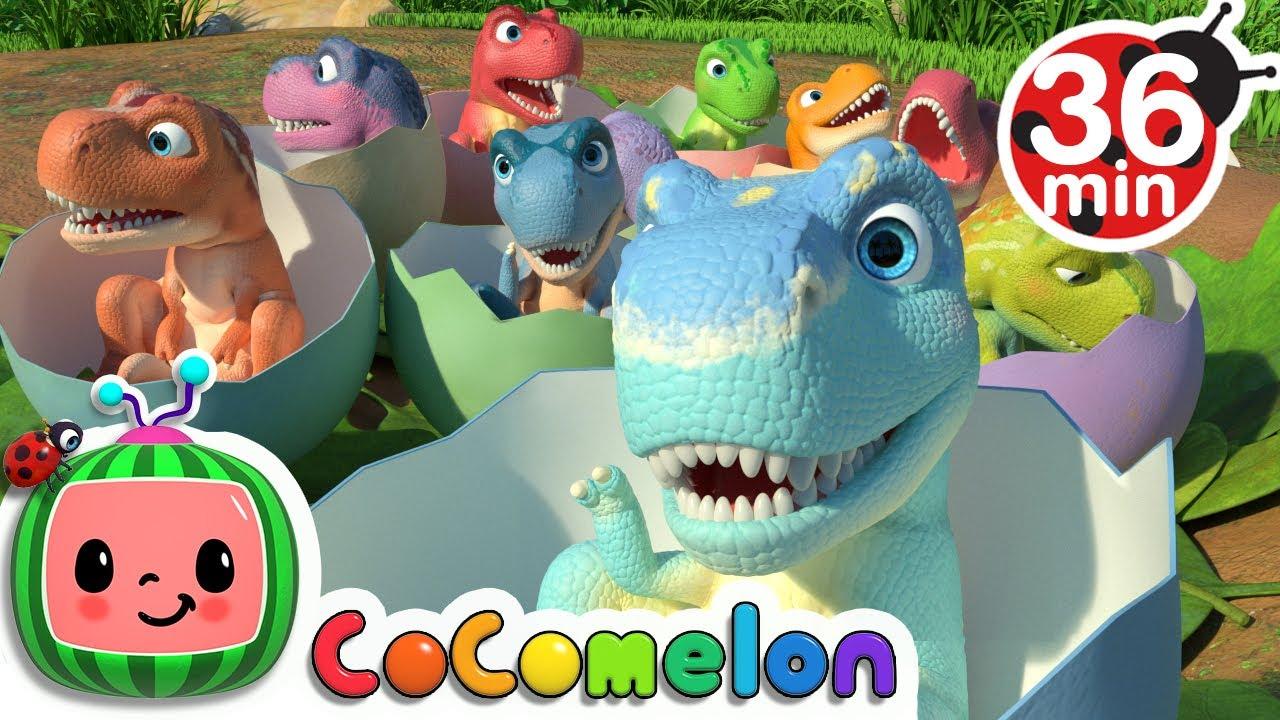 Ten Little Dinos + More Nursery Rhymes \u0026 Kids Songs - CoComelon