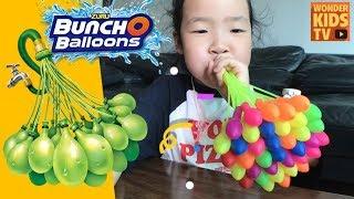 물풍선 던지기! 번처벌룬 물풍선 대결 Buncho water Balloons battle l water boom balloons