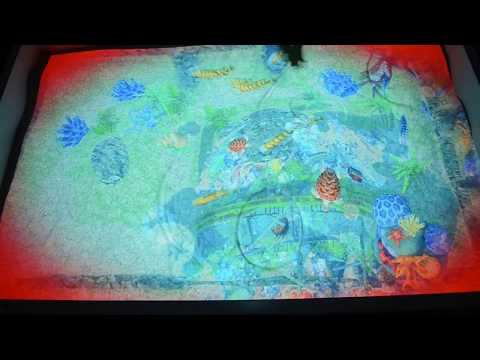 """Ocean and sea world"" mode augmented reality interactive sandbox iSandBOX"