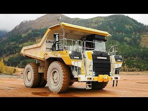 The New Liebherr T236 Mining Truck Working In The Erzberg Iron Ore Mine