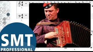 Как играть на баяне Прощальное танго (Юрий Щербаков)   How to play on accordion   SMT Pro