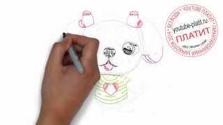 Нарисованные карандашом собаки  Как нарисовать белую игрушечную собаку