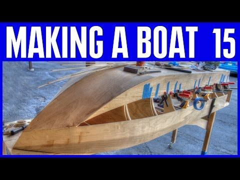 Wooden Boat Building #15 Wood Strip Canoe Style Hull Construction