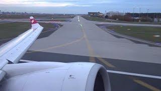 Swiss CS100 - Evening Takeoff from Frankfurt to Zurich
