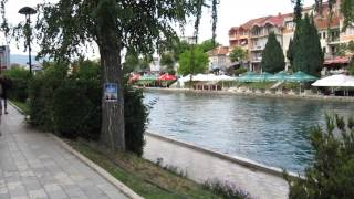 Struga and lake Ohrid , Macedonia