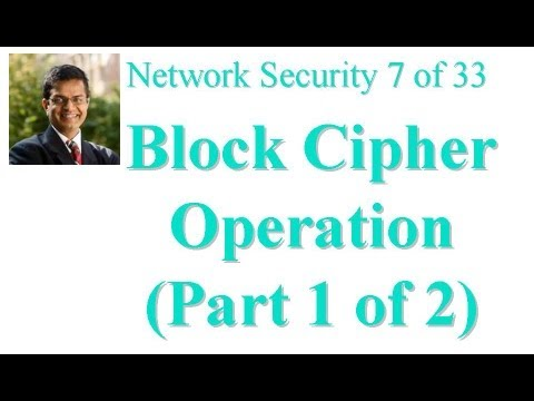 CSE571-11-06A: Block Cipher Operation (Part 1 of 2)