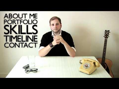 Graeme Anthony - Video CV Resume - Intro