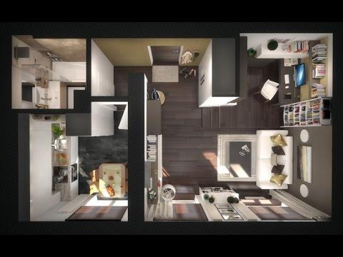 Современный дизайн однокомнатной квартиры 37 кв.м. (фото ...