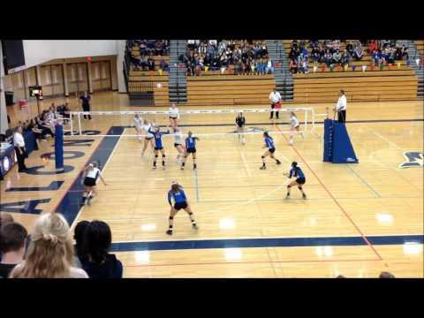 OSAA 2015 5A State volleyball semi-final - La Salle VS Bend