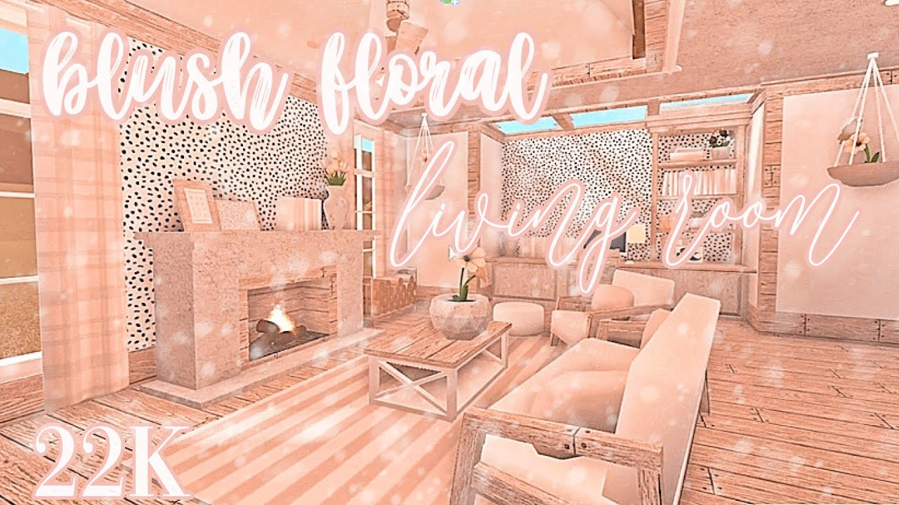 blush floral living room    welcome to bloxburg - YouTube
