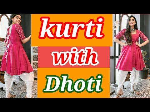 Latest Anarkali Kurti with Dhoti|College Wear Dhoti Salwar Suit Designs|Frock kurti With Dhoti-2020