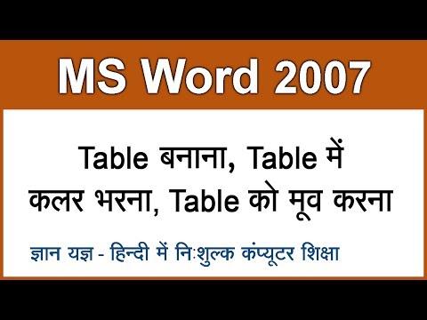 Learn to Create CV in Ms Word 2007 in Urdu/Hindi