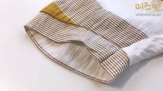 힐리스 루즈 브이넥 스트라이프 셔츠 v64018