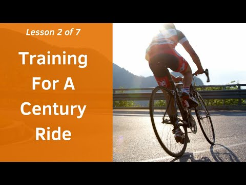 Training for a Century Ride (free training plan)