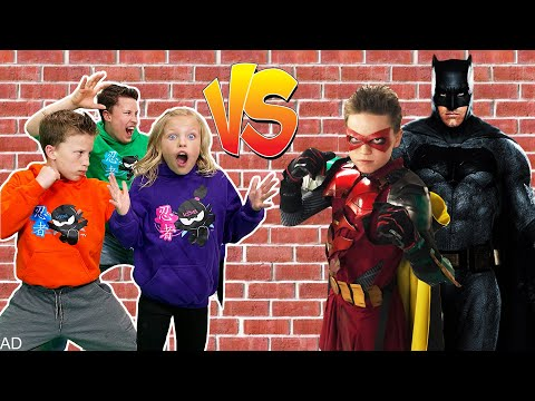 Ninja Kidz Team Up With Robin To Save Batman From The Joker!